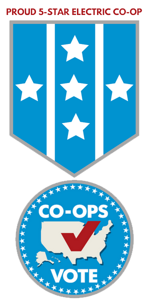 Proud 5-star electric co-op. Co-ops vote.